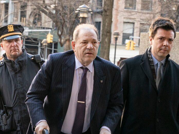 Harvey Weinstein bei seinem Prozess in New York.