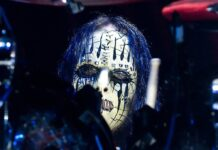 Joey Jordison während eines Auftritts im Jahr 2012