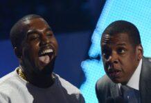 Kanye West (l.) und Jay-Z haben wieder einen gemeinsamen Song gemacht.