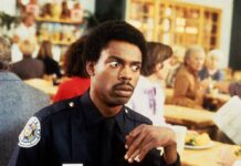 """Michael Winslow in """"Police Academy 2""""."""