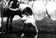 Tonnenspringen war zu Beginn des 20. Jahrhunderts eine olympische Disziplin.