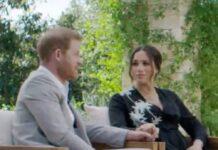 Prinz Harry und Herzogin Meghan während ihres Interviews mit Oprah Winfrey.