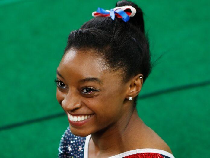 Simone Biles 2016 bei den Olympischen Spielen in Rio