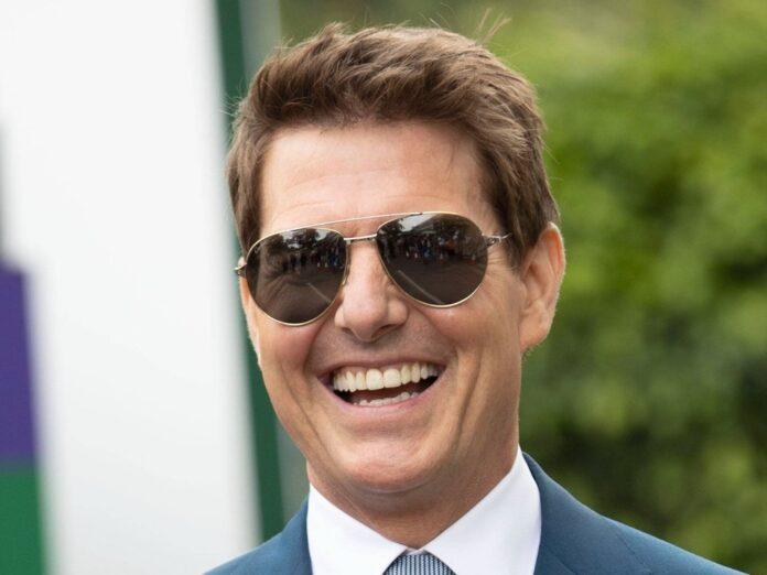 Tom Cruise am gestrigen Sonntag beim Wimbledon-Finale.