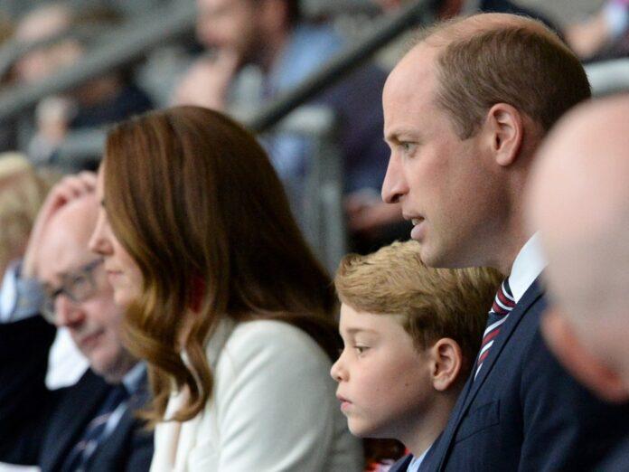 Auch die Royals schauten live beim EM-Endspiel England gegen Italien live in Wembley zu.