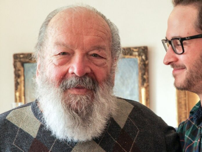 Carlo Pedersoli aka Bud Spencer (l.) und Regisseur Karl-Martin Pold in