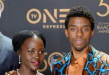 Chadwick Boseman und Lupita Nyong'o bei einer Preisverleihung im März 2019.