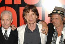 Mick Jagger (M.) und Keith Richards (re.) trauern um Charlie Watts.