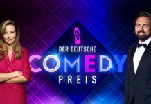 Katrin Bauerfeind und Steven Gätjen moderieren den Deutschen Comedypreis.