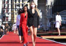 Leni Klum auf dem Laufsteg von Dolce & Gabbana.