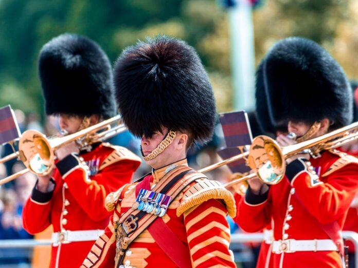 Die Wachen des Buckingham Palast.