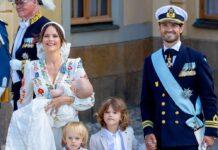 Prinz Carl Philip und Prinzessin Sofia von Schweden mit Prinz Julian