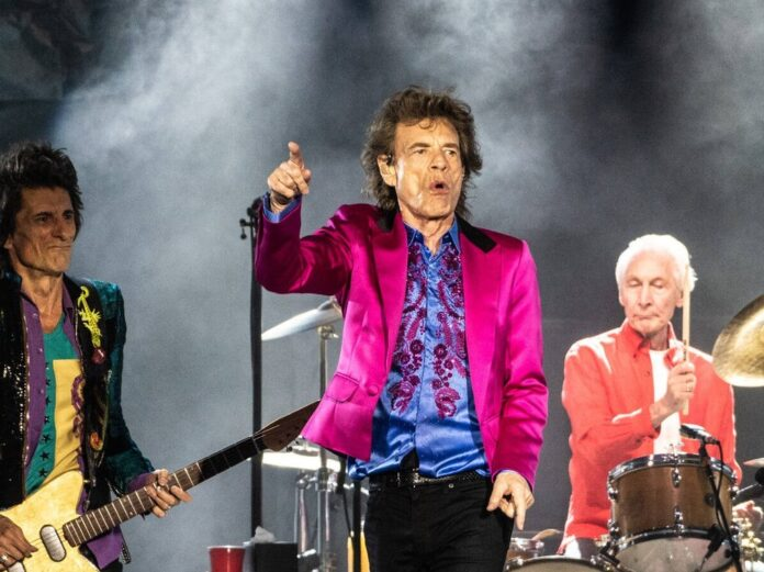 The Rolling Stones (v.l.): Ronnie Wood