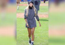 Alica Schmidt lief in Mailand für Hugo Boss über den Rasen.