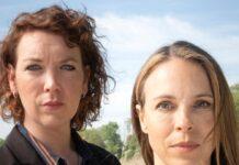 """Lina Beckmann (li.) und Anneke Kim Sarnau ermitteln für den """"Polizeiruf 110"""" bald gemeinsam."""