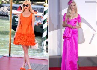 Anya Taylor-Joy in Orange und Pink