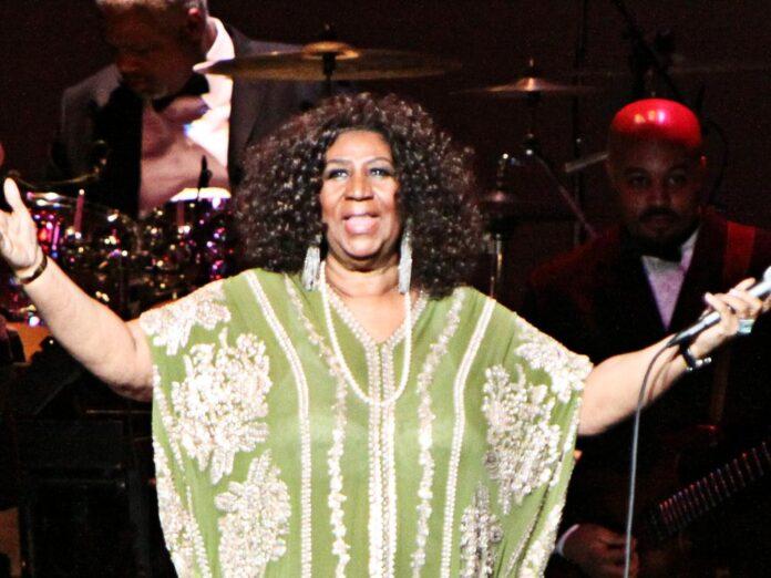 Aretha Franklin während eines Auftritts in Atlanta.