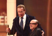 Arnold Schwarzenegger und Danny DeVito bei einem gemeinsamen Auftritt.