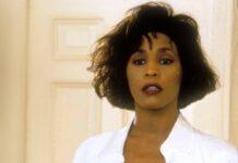 "Whitney Houston in ihrem Filmdebüt ""Bodyguard""."