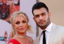 Britney Spears mit ihrem Verlobten Sam Asghari