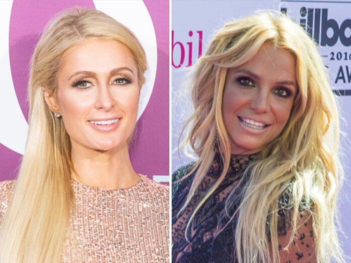 Paris Hilton (l.) freut sich für Britney Spears.