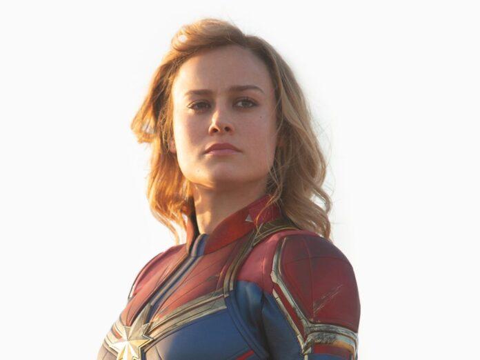 Oscarpreisträgerin Brie Larson als Captain Marvel.