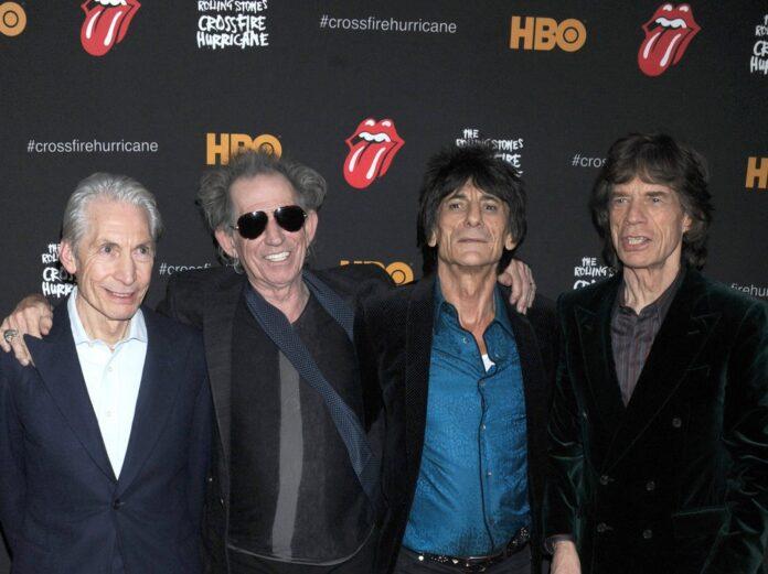 The Rolling Stones bei einem Auftritt in New York.