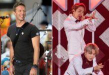 Coldplay rund um Frontmann Chris Martin (l.) und BTS verfügen beide über riesige Fangemeinden.