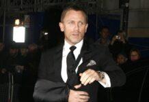 Daniel Craig alias 007 im Jahr 2008 mit Schlinge um den Arm.