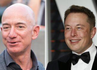 Jeff Bezos (li.) und Elon Musk wollen beide Tourismus ins All etablieren.