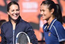 Herzogin Kate hat ein Tennis-Match mit US-Open-Gewinnerin Emma Raducanu gespielt.