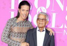 Jorge González mit seinem Vater bei einer Award-Verleihung 2016.
