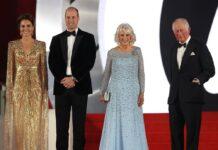 """Royale Gäste bei der """"Keine Zeit zu sterben""""-Weltpremiere (v.l.n.r.): Herzogin Kate"""