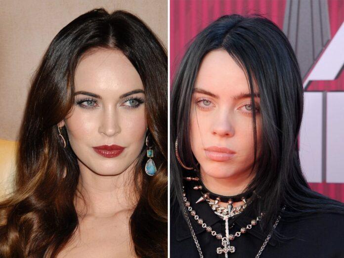 Megan Fox (li.) und Billie Eilish sind unter den Stars