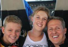 Michael Schumacher mit seinen beiden Kindern Mick und Gina-Maria.