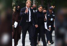 Prinz Harry und Herzogin Meghan vor dem One World Trade Center