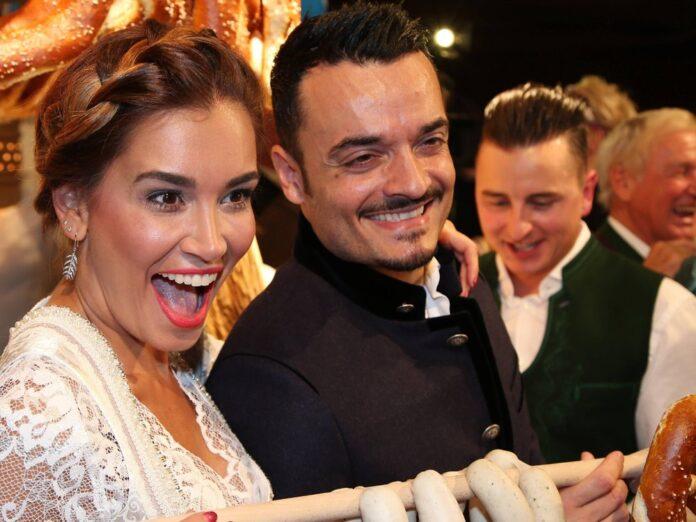 Jana Ina und Giovanni Zarrella sowie Andreas Gabalier mischten sich im Jahr 2017 unter die Gäste bei der legendären Weißwurst-Party