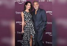 """Amal und George Clooney besuchten am Sonntag die Premiere von """"The Tender Bar""""."""