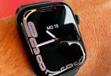 Im Test war eine Apple Watch Series 7 mit 45 mm Aluminiumgehäuse in der Farbe Mitternacht mit einem Lederarmband in Schwarzgrün.