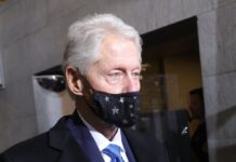 Bill Clinton während der Amtseinführung von Joe Biden im Januar 2021.