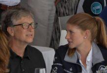 Bill Gates und seine Tochter Jennifer 2019.