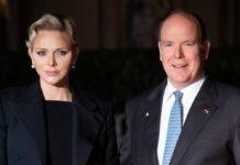 Fürstin Charlène mit ihrem Ehemann Fürst Albert II. von Monaco.