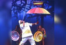"""Dickson """"Waterman"""" Oppong erfreute in der Castingshow """"Das Supertalent"""" mit seiner Wasser-Artistik."""