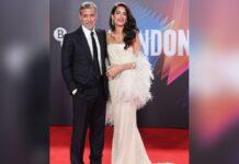 George Clooney und seine Frau Amal am Sonntag beim Londoner Filmfestival.