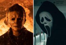Brüder im kranken Geiste: Michael Myers (l.) und Ghostface morden am liebsten mit dem Messer.