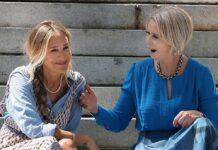 """Sarah Jessica Parker (li.) und Cynthia Nixon bei den Dreharbeiten von """"And Just Like That..."""""""