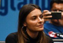 Sophia Thomalla bei Alexander Zverevs Tennisspiel gegen Filip Krajinovic beim Erste Bank Open Tennisturnier am Dienstag in der Wiener Stadthalle.