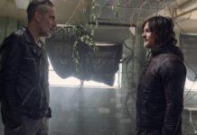 """Norman Reedus (re.) als Daryl Dixon und Jeffrey Dean Morgan als Negan in """"The Walking Dead"""": Welche Charaktere kommen im Spin-off vor?"""