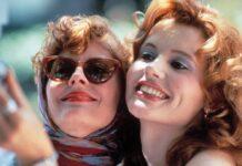 """Susan Sarandon (l.) und Geena Davis in """"Thelma & Louise""""."""