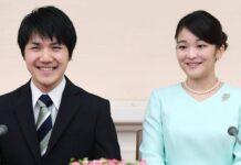 Prinzessin Mako (r.) und Kei Komuro während der Bekanntgabe ihrer Verlobung im Jahr 2017.